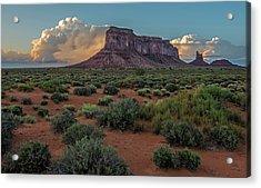 Eagle Mesa Storm Clouds Acrylic Print
