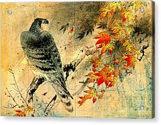 Eagle On Maple Branch 1884 Acrylic Print