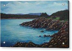 Eagle Point Cape Breton Island Nova Scotia Acrylic Print by Sharon Steinhaus
