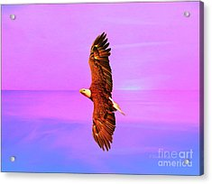 Acrylic Print featuring the painting Eagle Series Painterly by Deborah Benoit