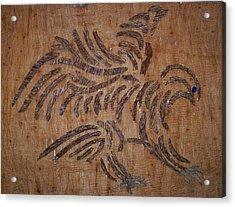 Eagle Tribal Of Agar Wood Acrylic Print by Joedhi