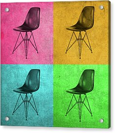 Eames Chair Vintage Pop Art Acrylic Print by Design Turnpike