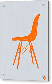 Eames Fiberglass Chair Orange Acrylic Print by Naxart Studio