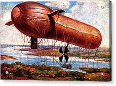 Early 1900s Military Airship Acrylic Print by Peter Gumaer Ogden