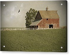 Early Am Barn Acrylic Print