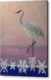 Early Arrival Acrylic Print by Valerie Aune