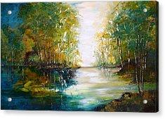 Early Autumn Lake Acrylic Print