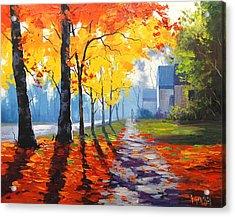 Early Autumn Light Acrylic Print by Graham Gercken