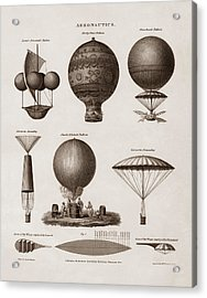 Early Balloon Designs Acrylic Print by War Is Hell Store
