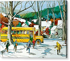 Early Bus Acrylic Print by Art Scholz