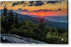 Blue Ridge Parkway Sunrise - Beacon Heights - North Carolina Acrylic Print