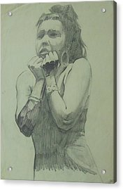 Acrylic Print featuring the drawing Early Drawing by Mike Jeffries