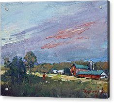 Early Evening At Phil's Farm Acrylic Print by Ylli Haruni