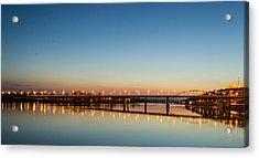 Early Evening Bridge At Sunset Acrylic Print