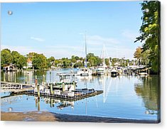 Acrylic Print featuring the photograph Early Fall Day On Spa Creek by Charles Kraus