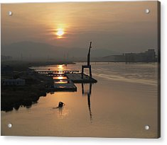 Acrylic Print featuring the photograph Early Hour On The River by Lucinda Walter
