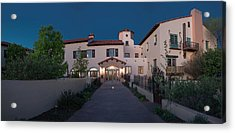 Acrylic Print featuring the photograph Early Morning At La Posada by Charles Ables