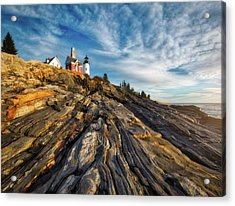 Early Morning At Pemaquid Point Acrylic Print by Darren White