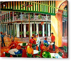 Early Morning At The Cafe Du Monde Acrylic Print
