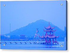 Acrylic Print featuring the photograph Early Morning At The Lotus Lake by Yali Shi