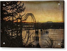 Early Morning At The Yaquina Bay Bridge  Acrylic Print