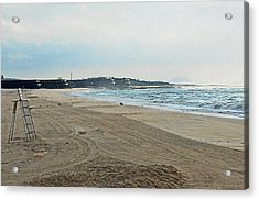 Early Morning Beach Silver Gull Club Acrylic Print