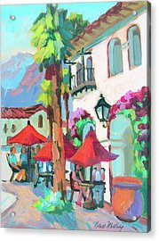 Acrylic Print featuring the painting Early Morning Coffee In Old Town La Quinta 2 by Diane McClary