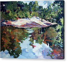Early Morning Creekside Alabama Acrylic Print by Rae Andrews