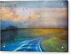 Early Morning Kansas Two-lane Highway Acrylic Print