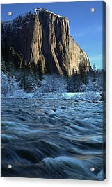 Acrylic Print featuring the photograph Early Morning Light On El Capitan During Winter At Yosemite National Park by Jetson Nguyen