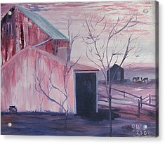 Early Morning On A Horse Farm Acrylic Print by Gloria Condon