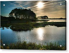 Early Morning On Beach Drive II Acrylic Print by Steven Ainsworth