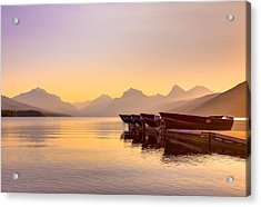Early Morning On Lake Mcdonald Acrylic Print