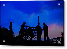 Early Morning On Little Round Top Acrylic Print