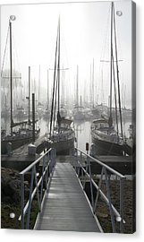 Early Morning On The Docks Acrylic Print by Laurie With