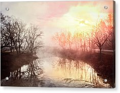 Acrylic Print featuring the photograph Early Morning On The River by Debra and Dave Vanderlaan