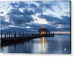 Early Morning Over Roanoke Marshes Lighthouse Acrylic Print