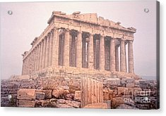 Acrylic Print featuring the photograph Early Morning Parthenon by Nigel Fletcher-Jones