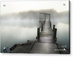 Yesterday's Early Morning Pier Acrylic Print by Tamyra Ayles
