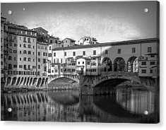 Acrylic Print featuring the photograph Early Morning Ponte Vecchio Florence Italy by Joan Carroll