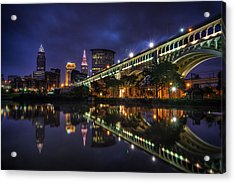 Early Morning Riverside In Cleveland Acrylic Print