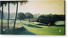 Early Morning Round Acrylic Print by Barry Smith