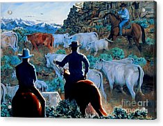 Early Morning Roundup Acrylic Print by Ruanna Sion Shadd a'Dann'l Yoder