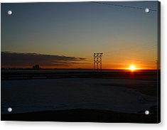 Early Morning Sunrise Acrylic Print by Anthony Jones