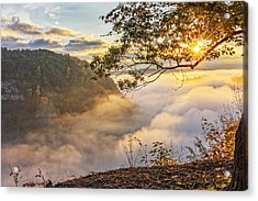 Early Morning Sunrise At Letchworth State Par Acrylic Print