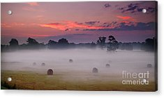 Early Morning Sunrise On The Natchez Trace Parkway In Mississippi Acrylic Print