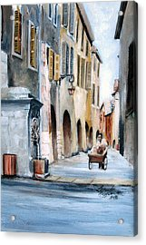 Early Morning Vendor  Acrylic Print