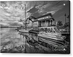 Early Sailing - Black And White Acrylic Print by Mina Isaac