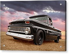 Early Sixties Chevy C10 At Sunset Acrylic Print