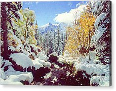 Acrylic Print featuring the photograph Early Snow by Eric Glaser